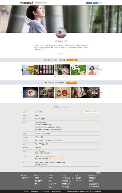 プロフィールページ公開イメージ